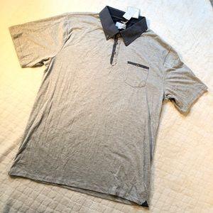 Craft & flow gray & blue short sleeve polo /XXL